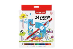Bruynzeel Bruynzeel Kleurpotloden Kids in karton etui - 24stuks