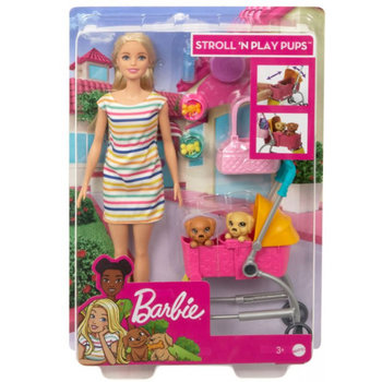 Mattel Barbie Stroll 'n Play Pups (Blonde)