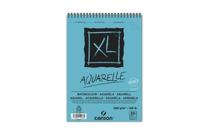 Canson Canson XL Aquarel A5 (148x210mm) 300gr/20vel - blauwe kaft