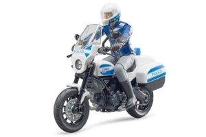 Politiemotor Scrambler Ducati met politieman