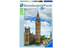 Ravensburger Puzzel (1500stuks) - Grappige kat op de Big Ben