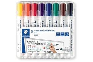 staedtler Lumocolor Whiteboardmarker 2mm/ronde punt - 8stuks