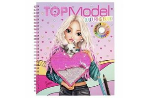 Depesche TOPModel kleurboek met pailletten