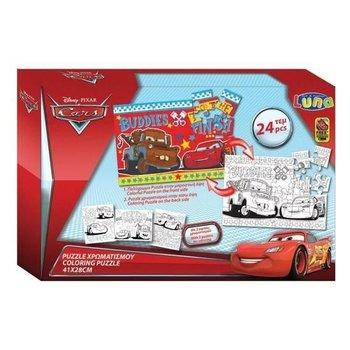 Cars kleur puzzel 2-zijdig 41x28cm - 24stuks