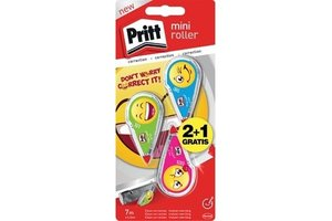 "Pritt Pritt Correctieroller ""Mini"" (EMOJI) 4,2mm x 7m - 2+1 gratis"