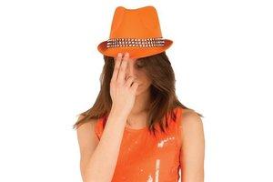 Hoed Funk neon oranje