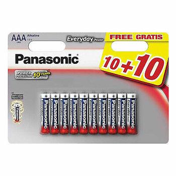 Batterijen Panasonic Everyday Power AAA (10+10 gratis)