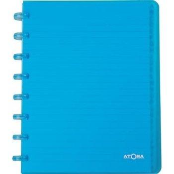 Atoma Atoma Adresboek PP A5/gelijnd - transparant