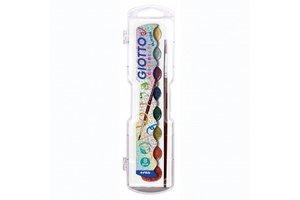 Canson Giotto Waterverfdoos met 8 kleuren GLITTER + 1 penseel