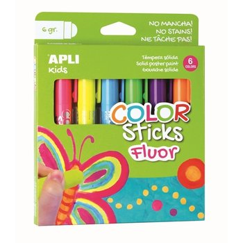 "Apli APLI Kids Color Sticks ""Fluo"" 6stuks"