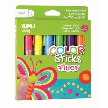 "APLI Kids Color Sticks ""Fluo"" 6stuks"