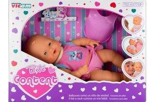 Babypop brabbel functie 35cm