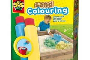 SES Creative Zand kleuren blauw - geel