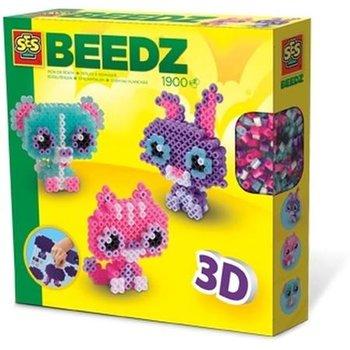 SES Creative Beedz - Strijkkralen 3D dierenvriendjes