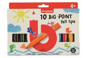 Talens Bruynzeel Kids Viltstiften Big Points - 10stuks