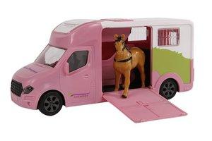 Kids Globe Paardentruck met licht en geluid - 20cm (roze)