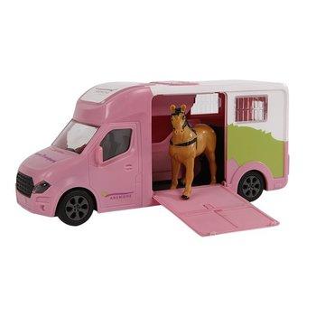 Anemone paardentruck met licht/geluid - 20cm (roze)