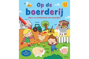 Deltas Kleur- en stickerboek met woordjes - Op de boerderij (3-5jaar)