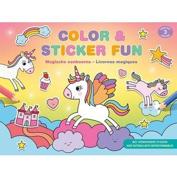 Deltas Color & Sticker Fun - Magische eenhoorns