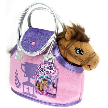 Bruine pony in tasje