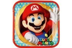 Super Mario - Borden (kartonnen) 23x23cm - 8stuks