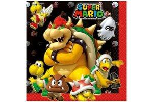 Super Mario Bros - Servetten (papieren) 33x33cm - 20stuks