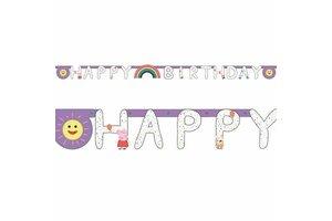 "Peppa Pig - Letterguirlande ""Happy Birthday"""