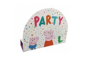 Peppa Pig - Uitnodigingen + enveloppe 8stuks