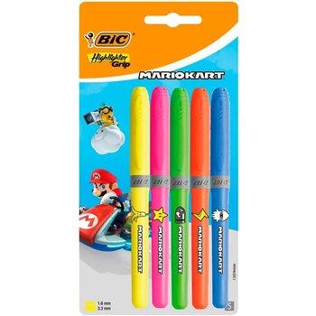 "Bic BIC Markeerstift Highlighter Grip ""MarioKart"" - 5stuks"