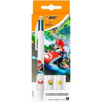 "Bic BIC 4-kleurenbalpen ""MarioKart"" - 3stuks"