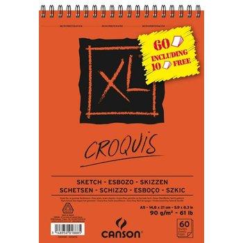 Canson Canson Schetsblok XL A5 (148x210mm) 90gr/60vel - oranje kaft