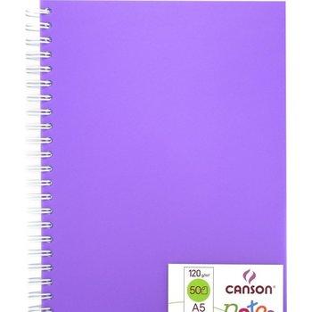 Canson Canson Schetsboek (spiraal) PP/A5 (148x210mm) 120gr/50vel - paarse kaft
