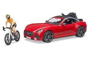 Bruder Roadster met racefiets en wielrenner