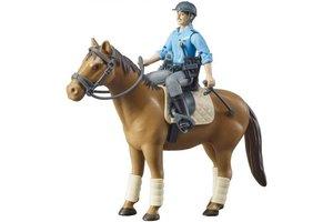 Politieagent met paard