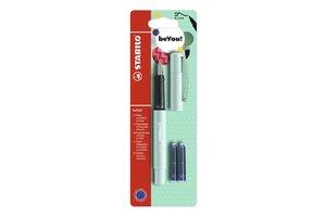 Stabilo Stabilo vulpen beFab! Pastel - turquoise + 2 vullingen