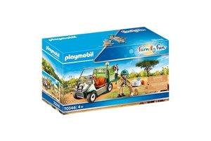 Playmobil PM Family Fun - Dierenverzorger met voertuig
