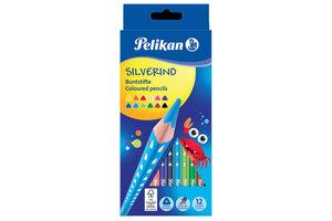 Pelikan Pelikan Kleurpotloden (driehoekig) SILVERINO - 12stuks
