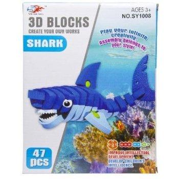 3D Puzzel - Haai (47stuks)/Eenhoorn (45stuks)