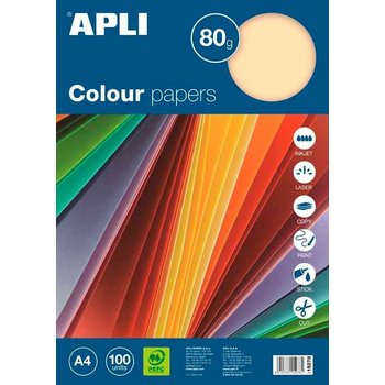 Apli Color Paper A4 80gr/100vel - Pastel