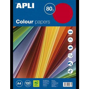 Apli Color Paper A4 80gr/100vel - Fluo