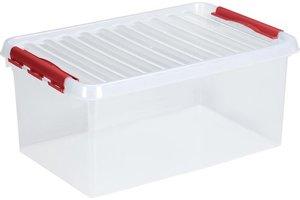 Suware Q-line Box 45L - transparant/rood