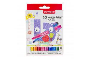 Talens Bruynzeel Kids Viltstiften Multi Point - 10stuks