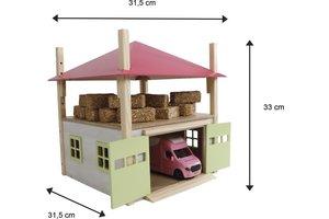 Hooiberg (hout) met berging 32x35x45cm - roze