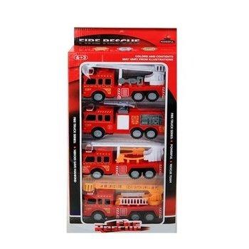 Brandweerauto's 4-delig