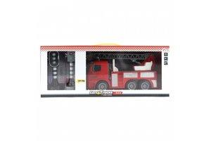 Cars&Trucks - Brandweerwagen (rood) en verkeerslichten met licht/geluid