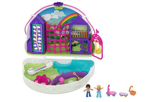 Mattel Polly Pocket Large Wearable Compact - Rainbow Dream Purse