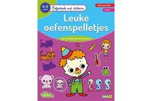 Deltas Oefenboek met stickers - Leuke oefenspelletjes (4-5jaar)