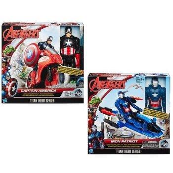 Avengers Titan Hero met voertuig 30cm : Iron Patriot OF Captain America