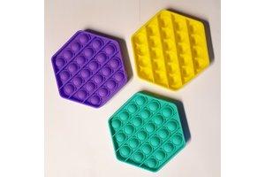 Bubble Pop - Pop it Fidget Toy - zeshoek - per stuk
