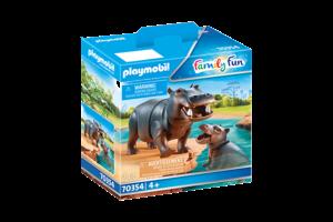 Playmobil PM Family Fun - Nijlpaard met baby 70354